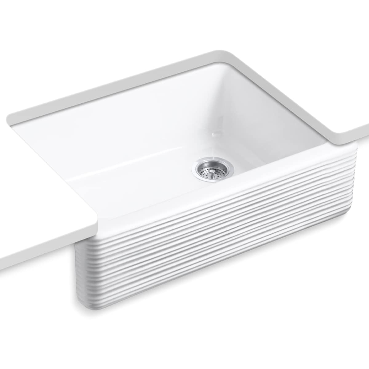 Kohler K 7251 0 White Whitehaven 29 11 16 Single Basin Farmhouse