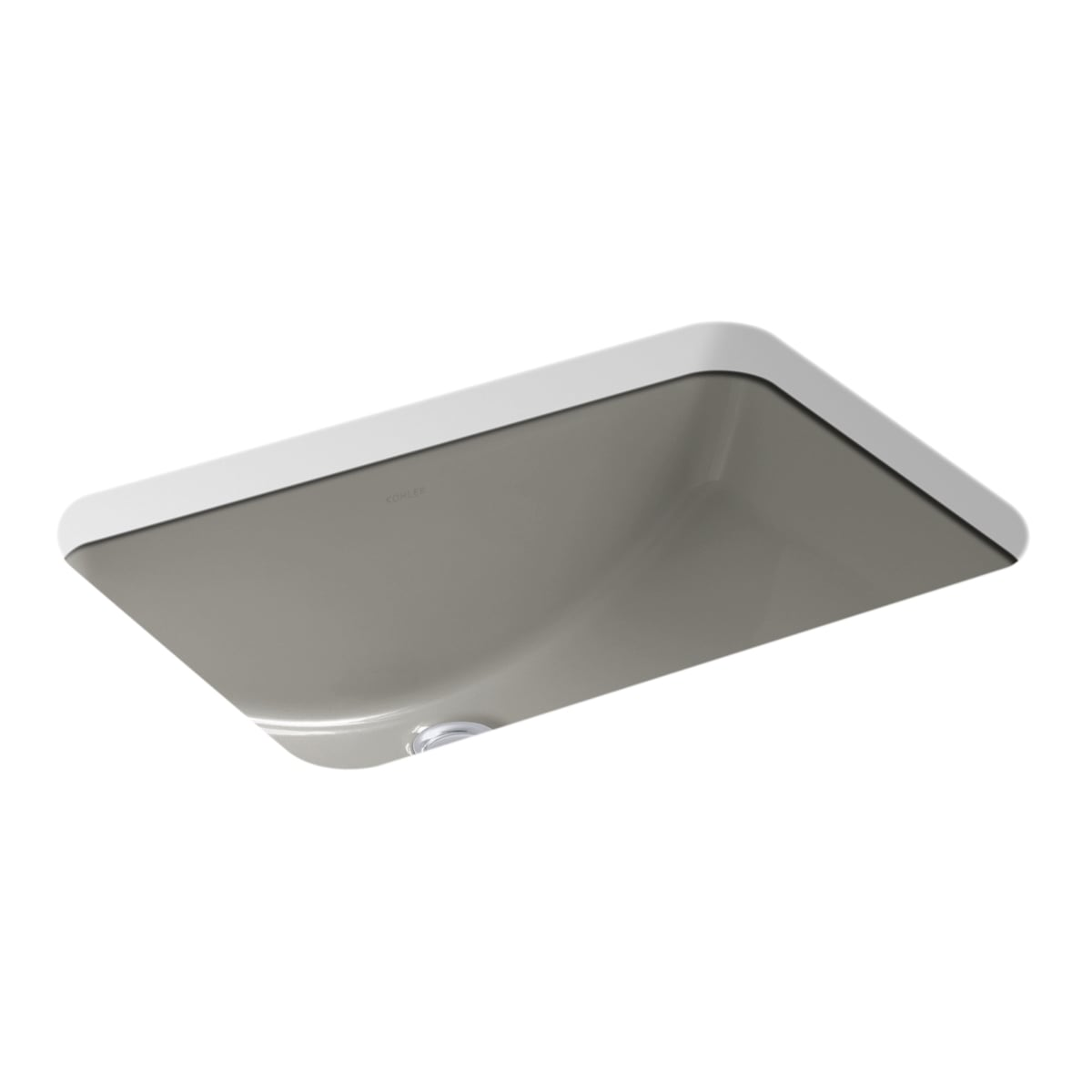 "Kohler K-2214-0 White Ladena 20-7/8"" x 14-3/8"" x 8-1/8"" Undermount Bathroom  Sink with Overflow - Faucet.com"