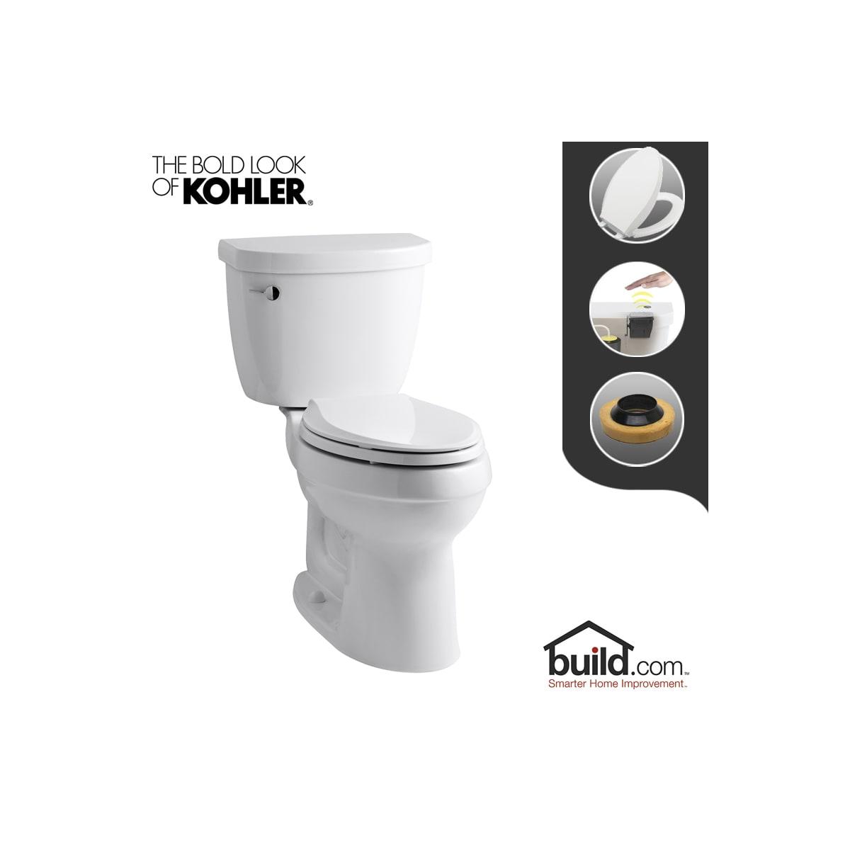 Pleasant Kohler K 3589 0 Touchless White Cimarron 1 6 Gpf Two Piece Beatyapartments Chair Design Images Beatyapartmentscom