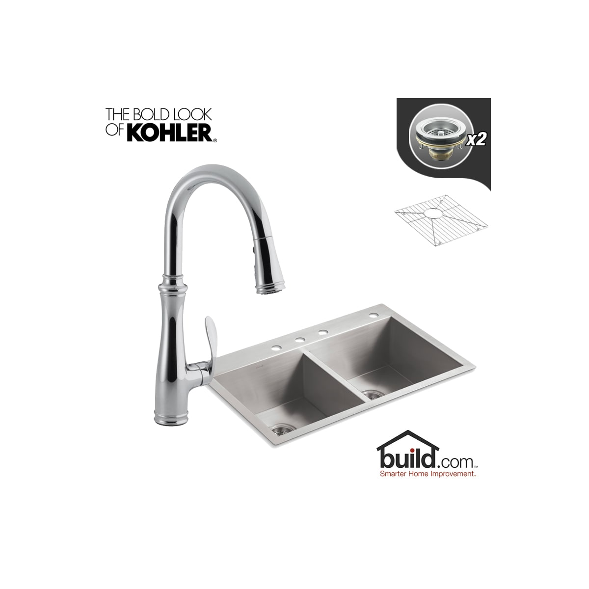Kohler K 3820 4 K 560 Cp Polished Chrome Faucet Vault