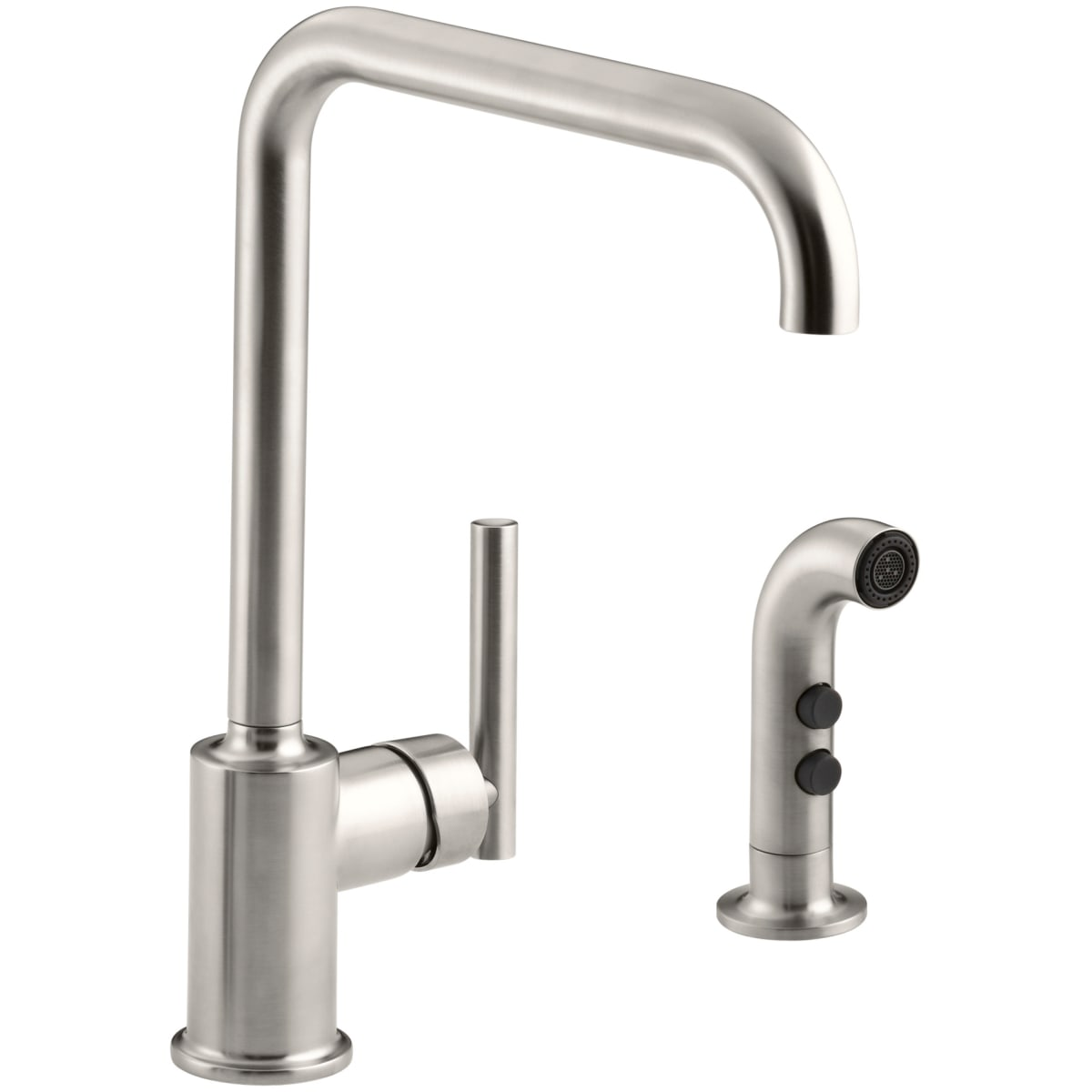 Kohler K 7508 Bl Matte Black Purist High Arch Kitchen Faucet