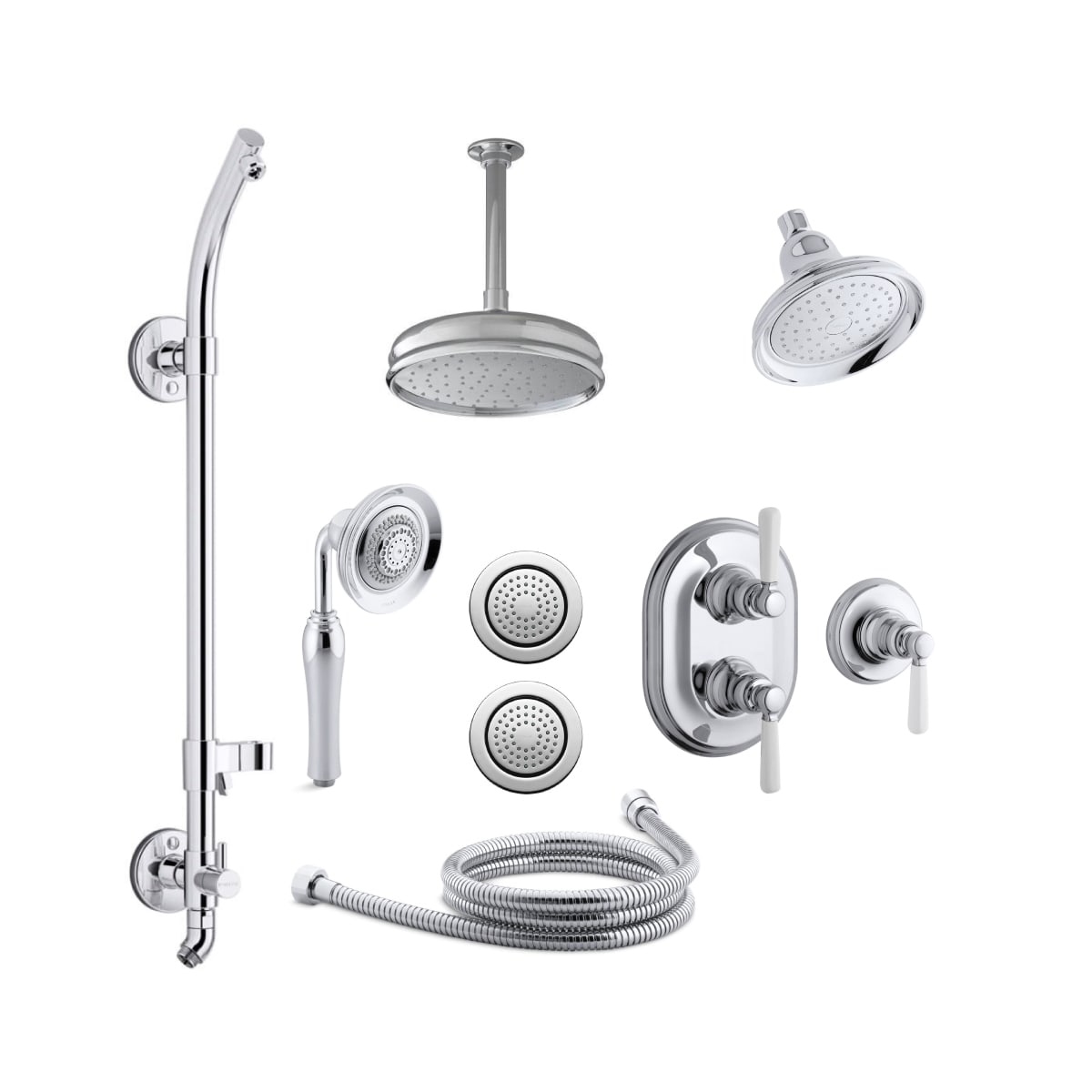 Kohler K Bancroft Dsms18hr 4p Cp Polished Chrome Bancroft