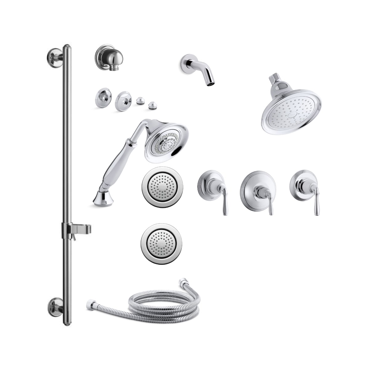 Kohler K Devonshire Ms15s 4 Cp Polished Chrome Devonshire