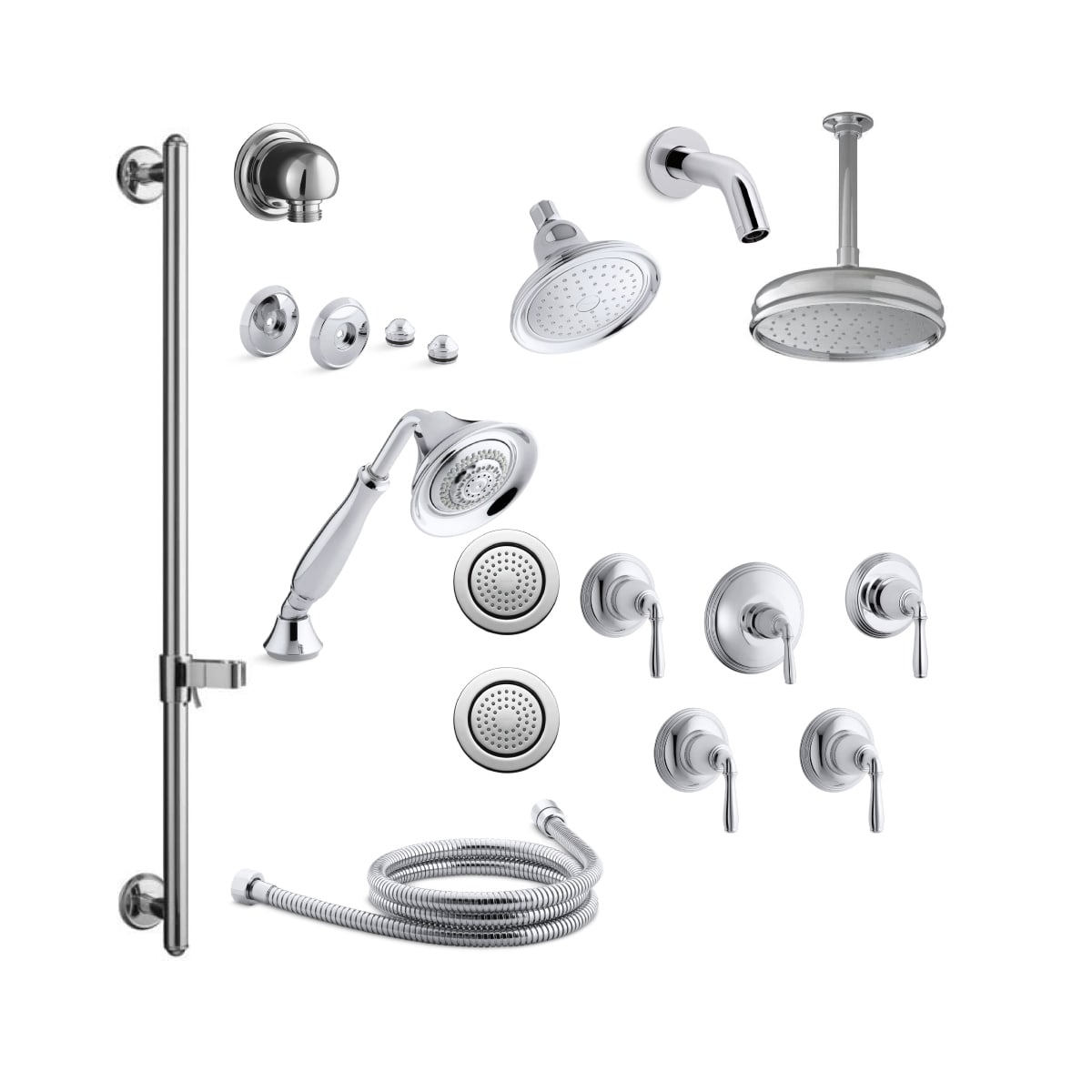 Kohler K Devonshire Ms18s 4 Cp Polished Chrome Devonshire