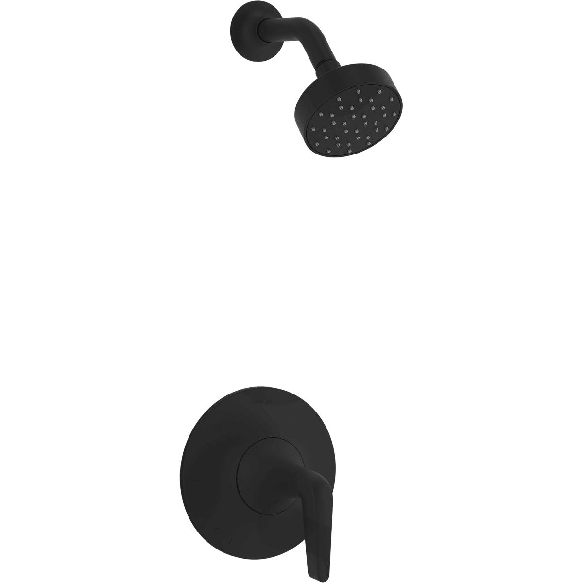 Kohler K Ts22028 4 Bl Matte Black Tempered Shower Only Trim