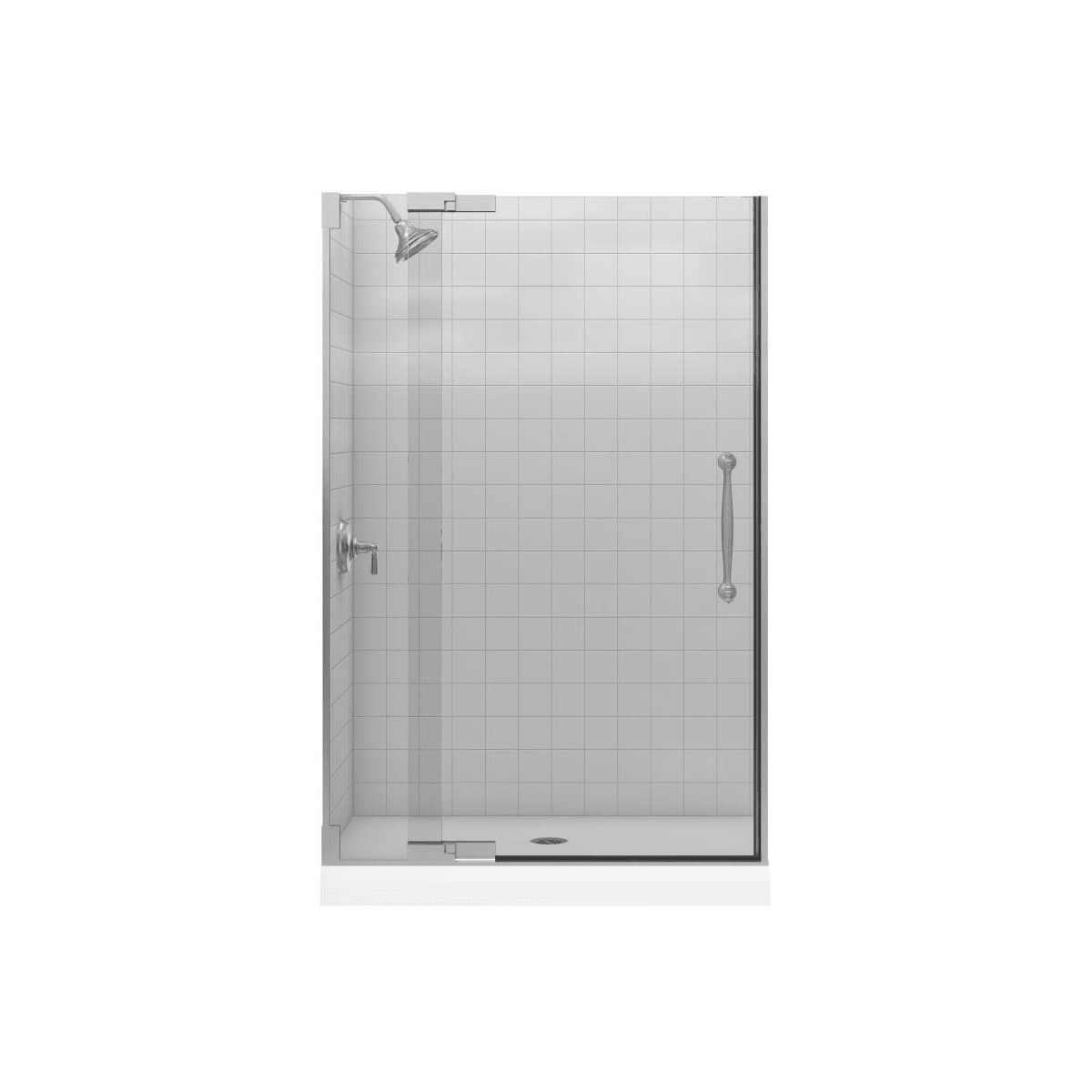Kohler K 705740 L Bh Bright Brass Heavy Glass Pivot Shower