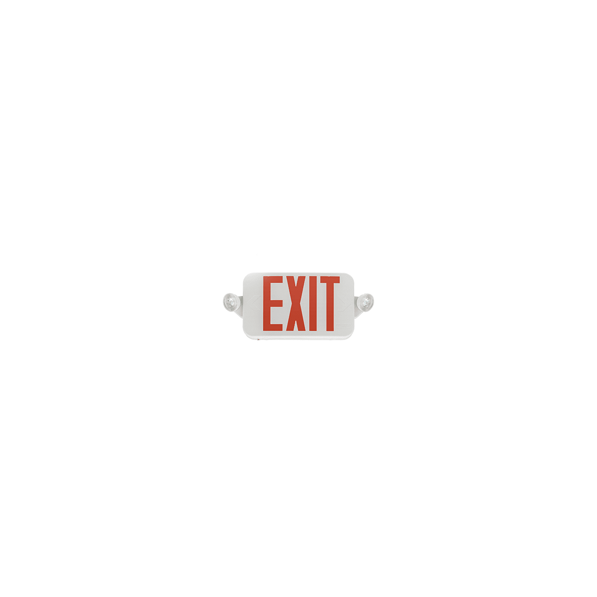 Lithonia Lighting Ecc G M6 White Green 16 Wide Led Ceiling Or Wall Mount Exit Sign With Emergency Lights From The Contractor Select Collection Lightingdirect Com