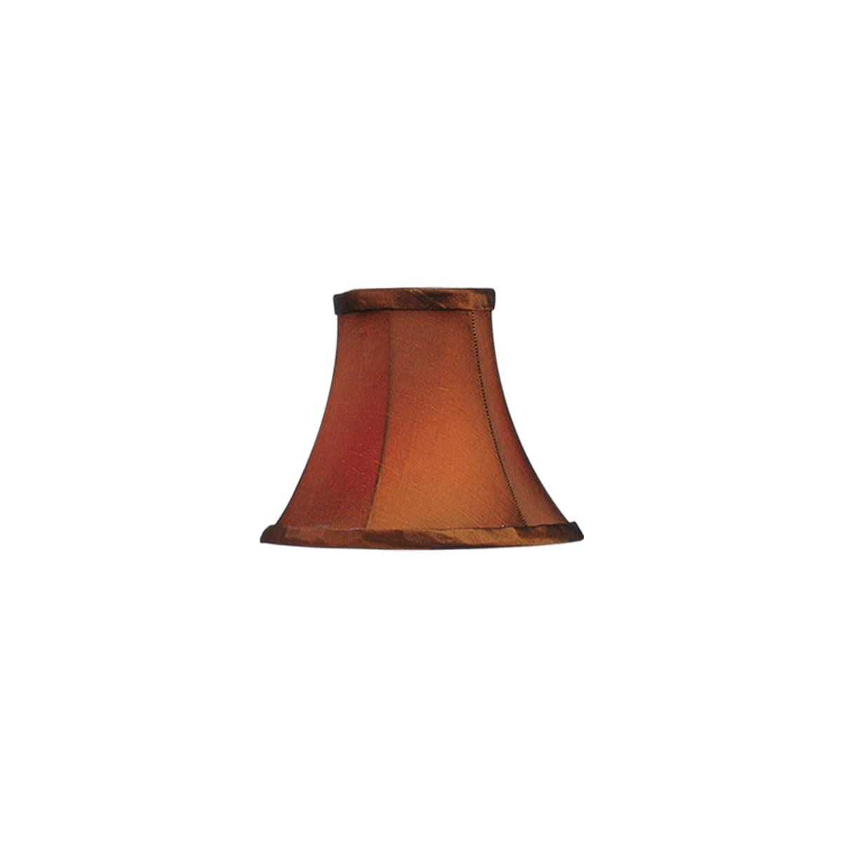 Livex Lighting S220 Brown Silk Bell Clip Shade Chandelier Shade With Brown Silk Bell Clip Shade From Chandelier Shade Series