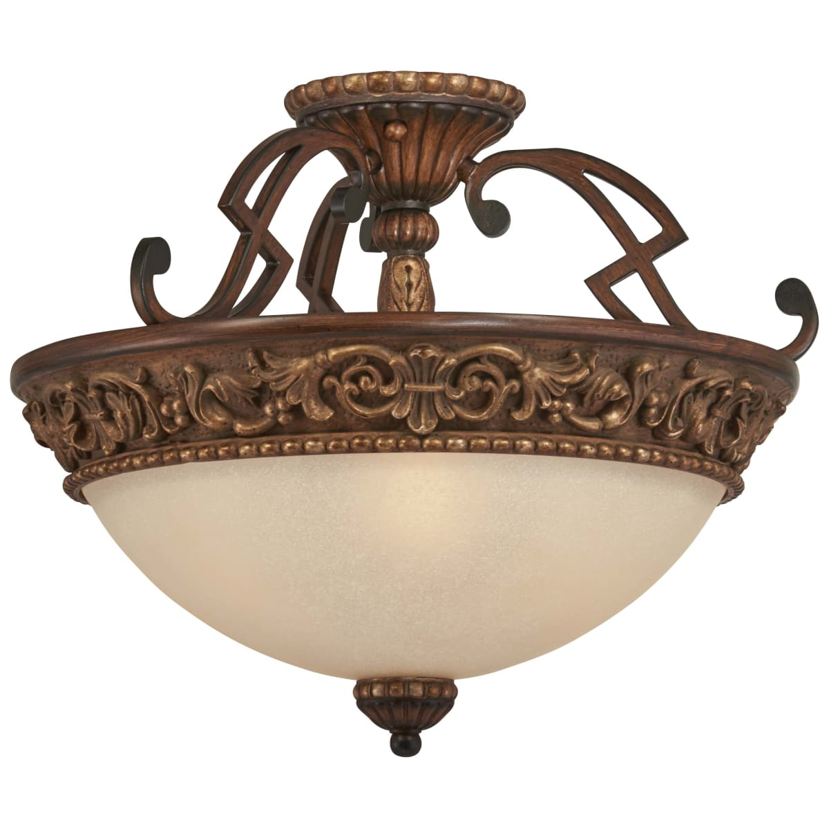 Minka Lavery 949 126 Belcaro Walnut 3 Light 18 Wide Semi