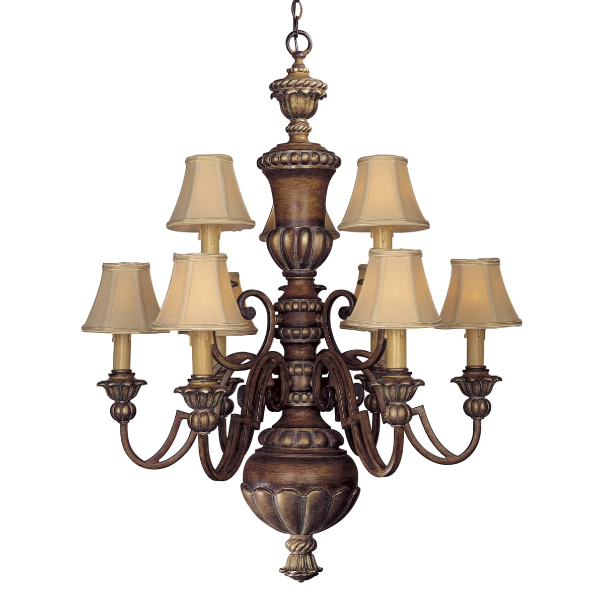 Minka Lavery 947 126 Belcaro Walnut 9 Light Up Lighting