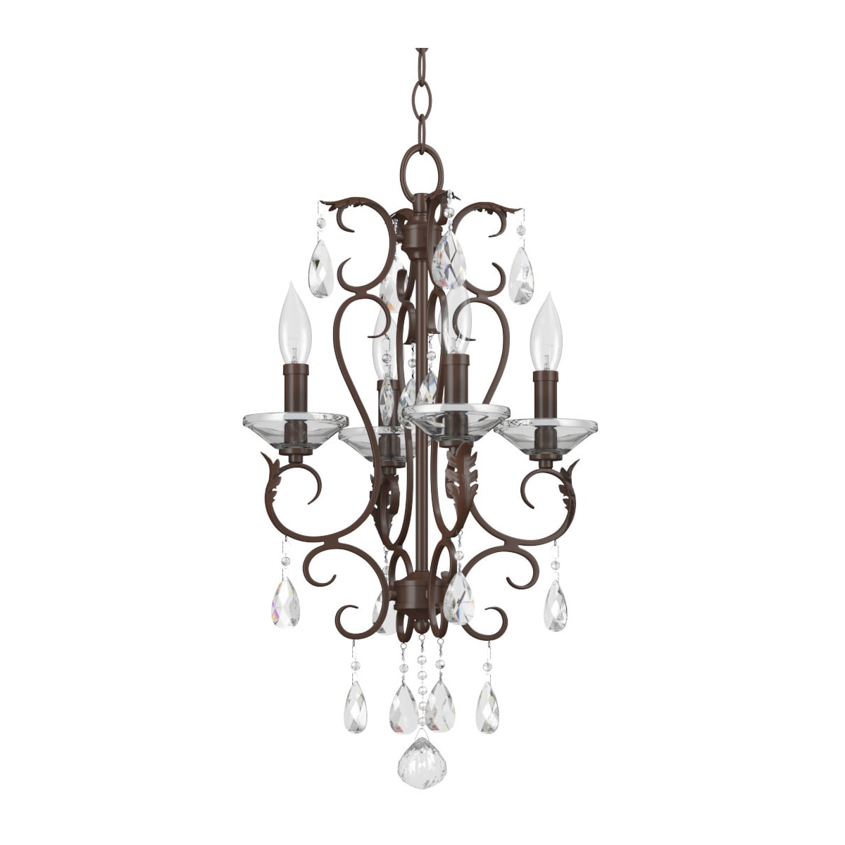 Miseno Gilded Bronze Chandelier - a gorgeous romantic crystal chandelier for decorating a romantic French country room. #frenchcountry #chandelier #gilded