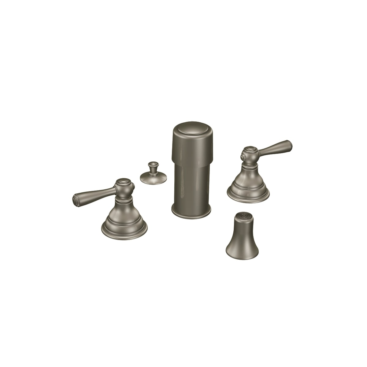 Brushed Nickel valve not included Moen T5210BN Kingsley two-handle bidet faucet