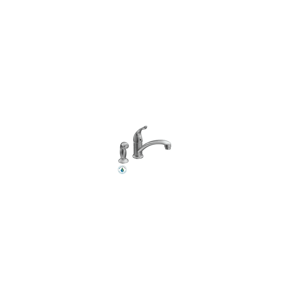 Moen 7437 Chrome Chateau Single Handle Kitchen Faucet With Side Spray Faucetdirect Com