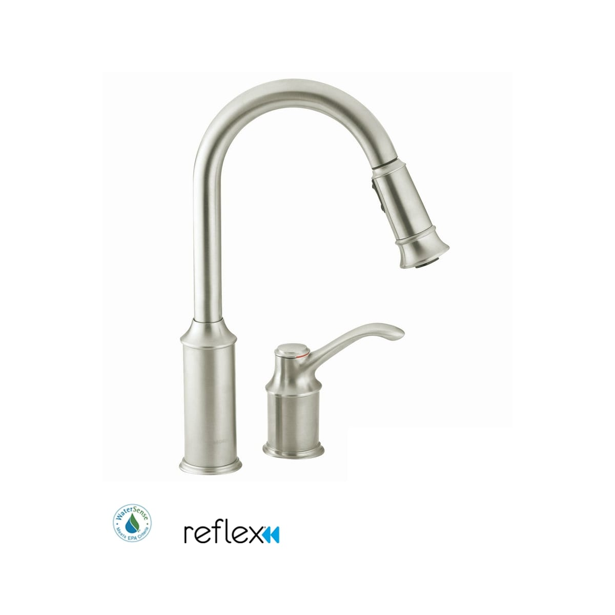 Moen 7590c Chrome Aberdeen Single Handle Pulldown Spray Kitchen Faucet With Reflex Technology Faucetdirect Com