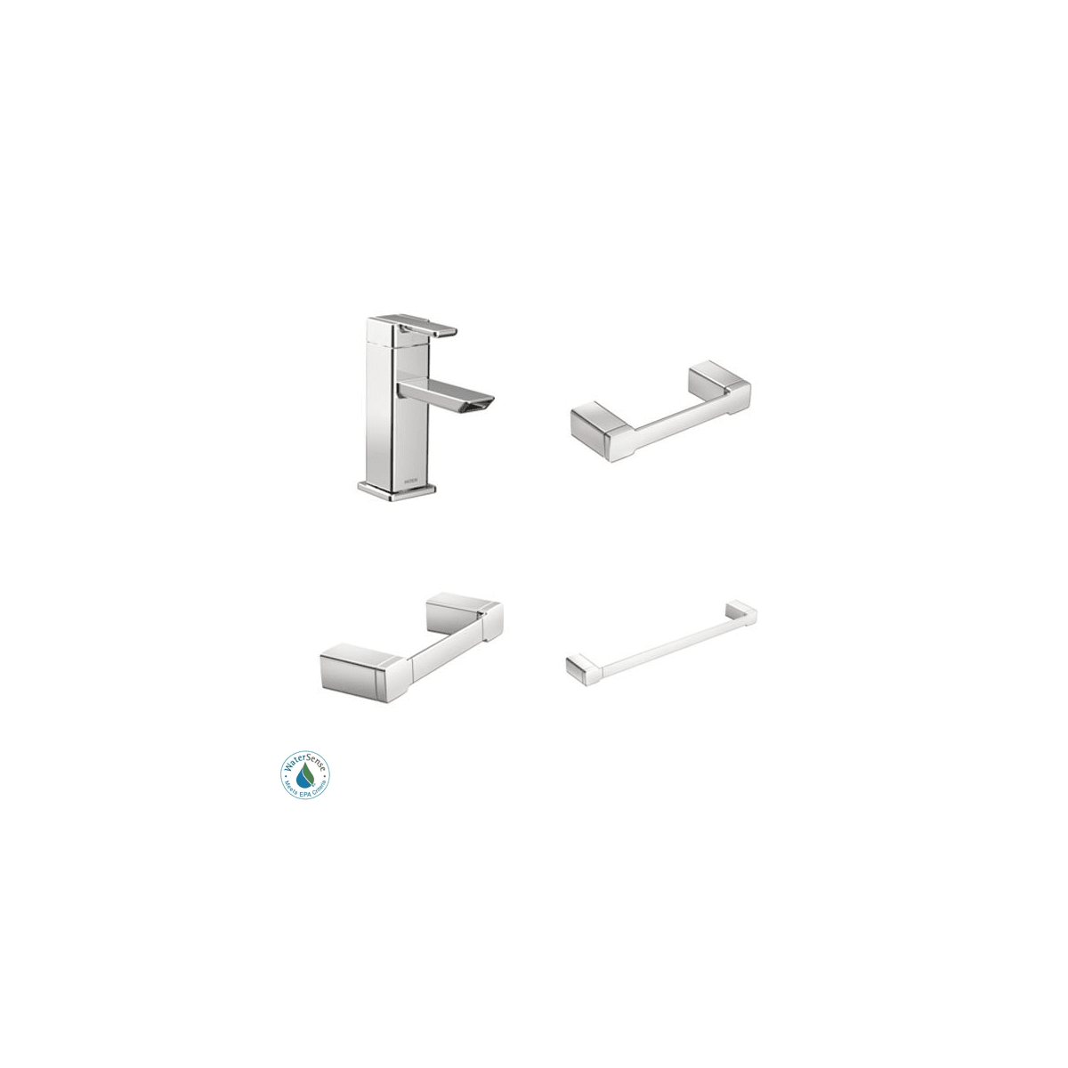 Moen 90 Degree Faucet and Accessory Bundle 1