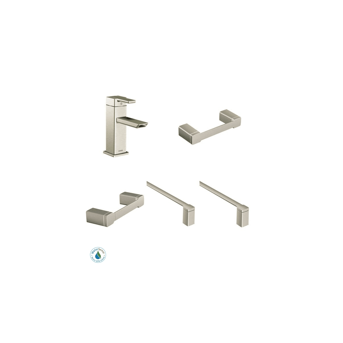 Moen 90 Degree Faucet and Accessory Bundle 2
