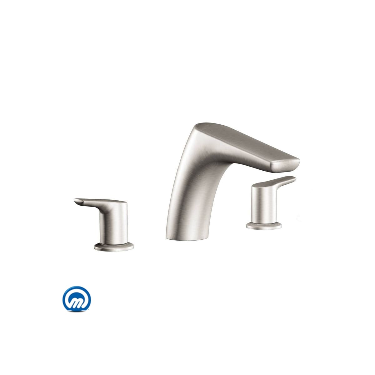 Moen T986bn Brushed Nickel Deck Mounted Roman Tub Filler Trim From
