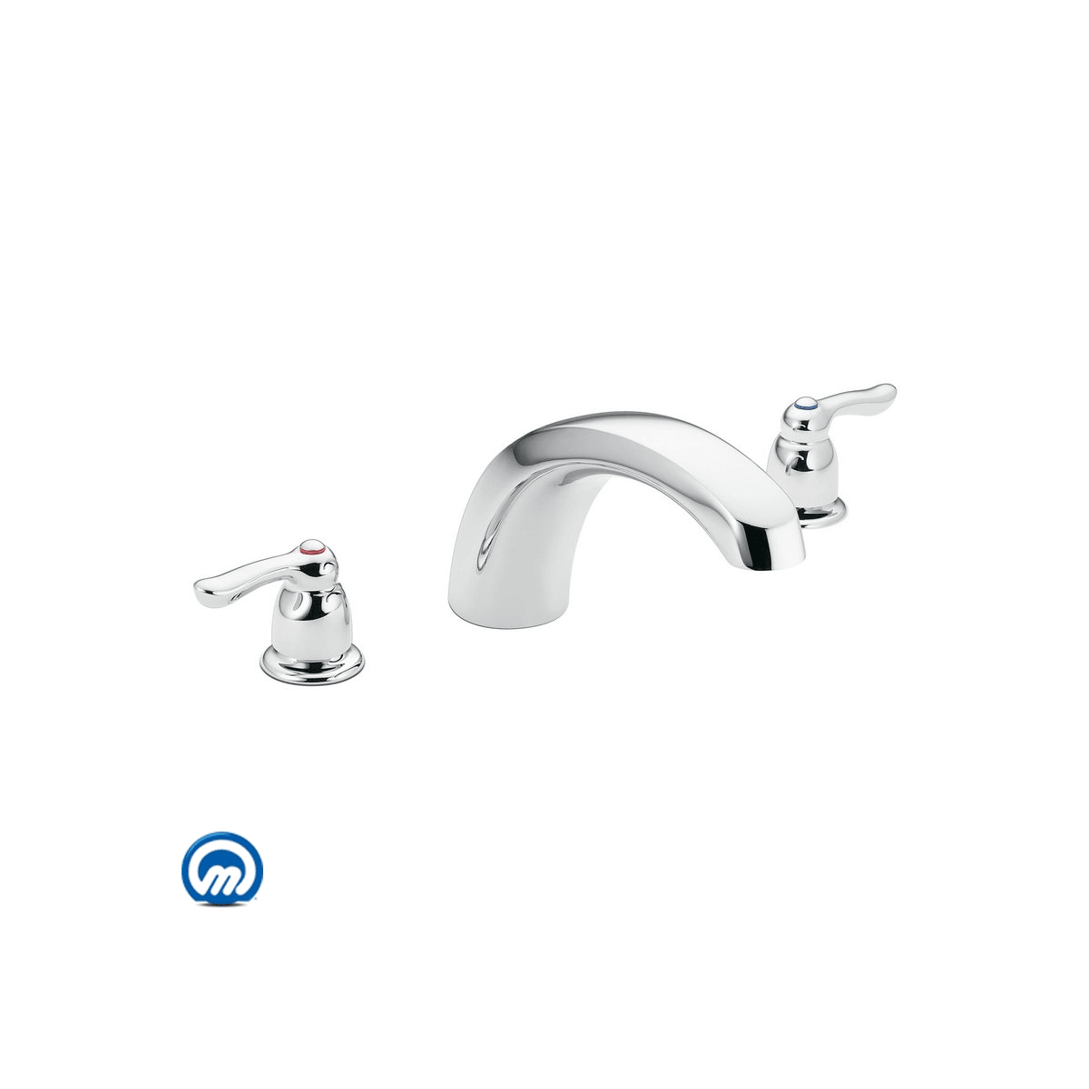 Moen T990 Chrome Deck Mounted Roman Tub Filler Trim From The