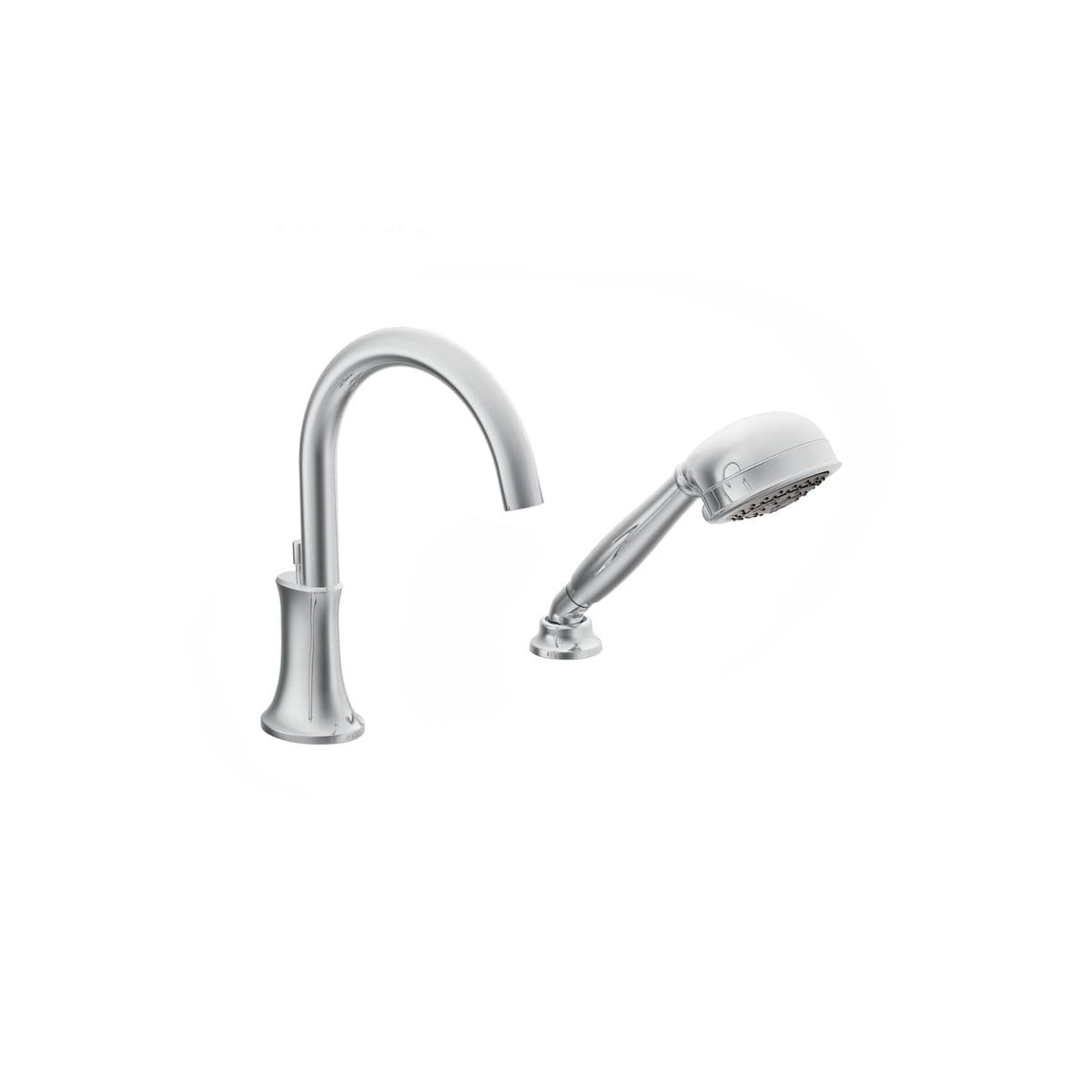 Moen TS9622 Chrome Roman Tub Faucet Trim With IoDIGITAL Technology And  Single Function Hand Shower From The Icon Collection (Less Valve)    Faucet.com