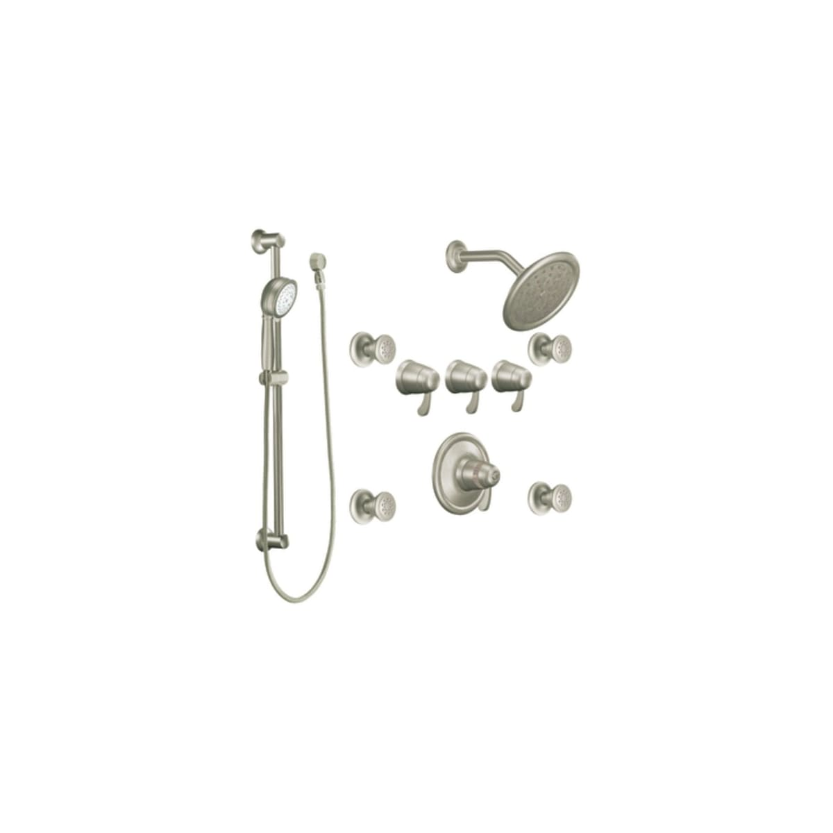 Moen Ts275 Chrome Quad Handle Vertical Spa Trim With