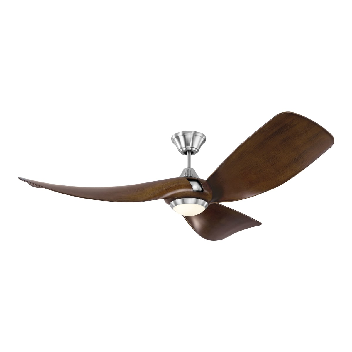 Monte Carlo 3mer56bsd Brushed Steel Melody 56 3 Blade Integrated Led Indoor Outdoor Ceiling Fan With Light Kit And Remote Control Lightingdirect Com