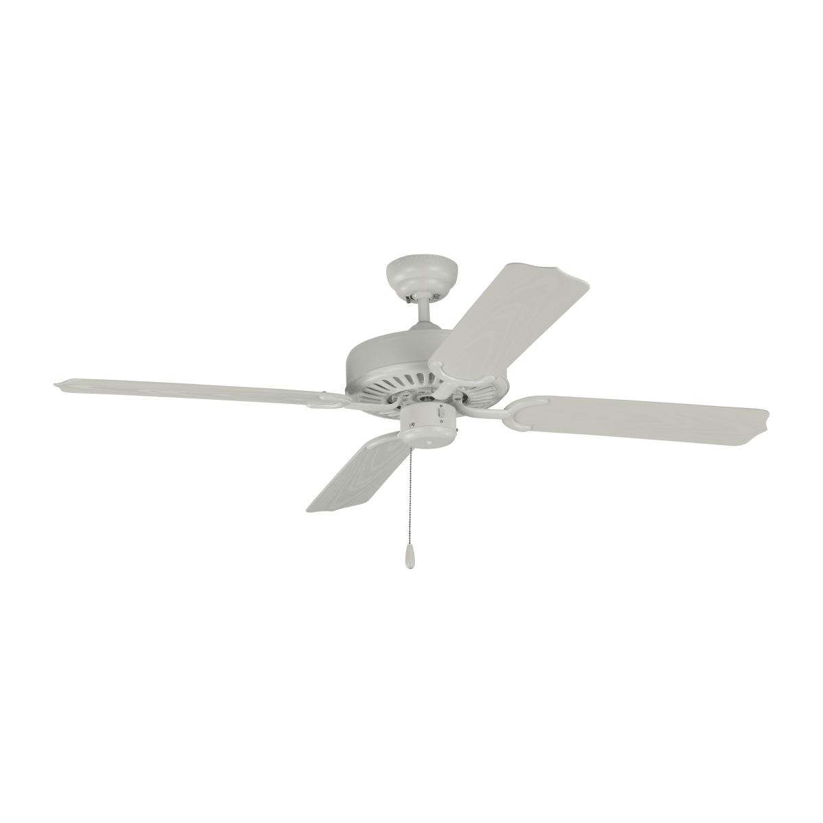 Monte Carlo 4tk52rzw Matte White Tucker 52 4 Blade Indoor Outdoor Ceiling Fan Lightingshowplace Com