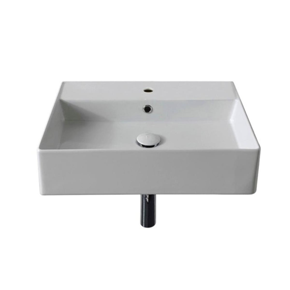 Nameeks Scarabeo 5111 Three Hole White Three Hole Scarabeo Teorema 2 0 20 Rectangular Ceramic Vessel Or Wall Mounted Bathroom Sink With Overflow Faucet Com