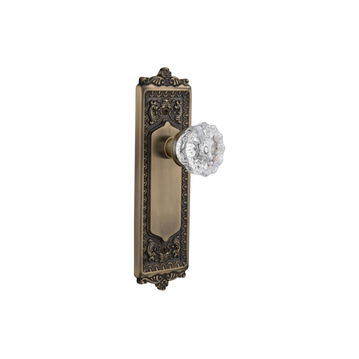 Nostalgic Warehouse 704161 Oil Rubbed Bronze Victorian Crystal Privacy Door Knob Set With Solid Brass Egg And Dart Plate And 2 3 8 Backset Faucetdirect Com