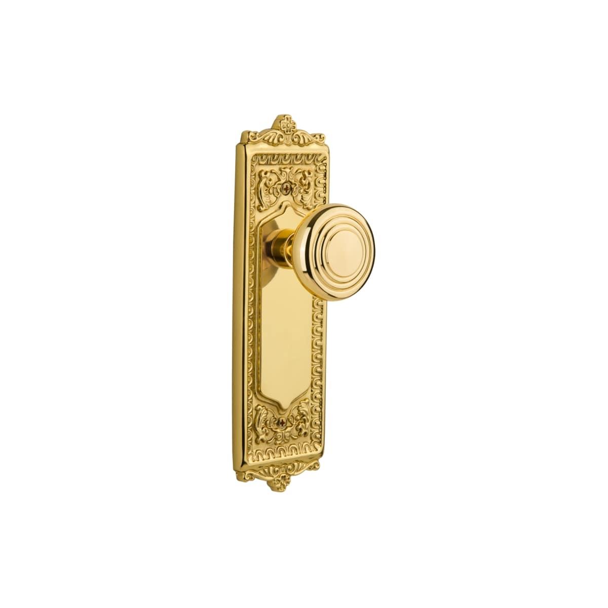 Details about  /ANTIQUE VINTAGE SET OF BRASS DOOR KNOBS #1
