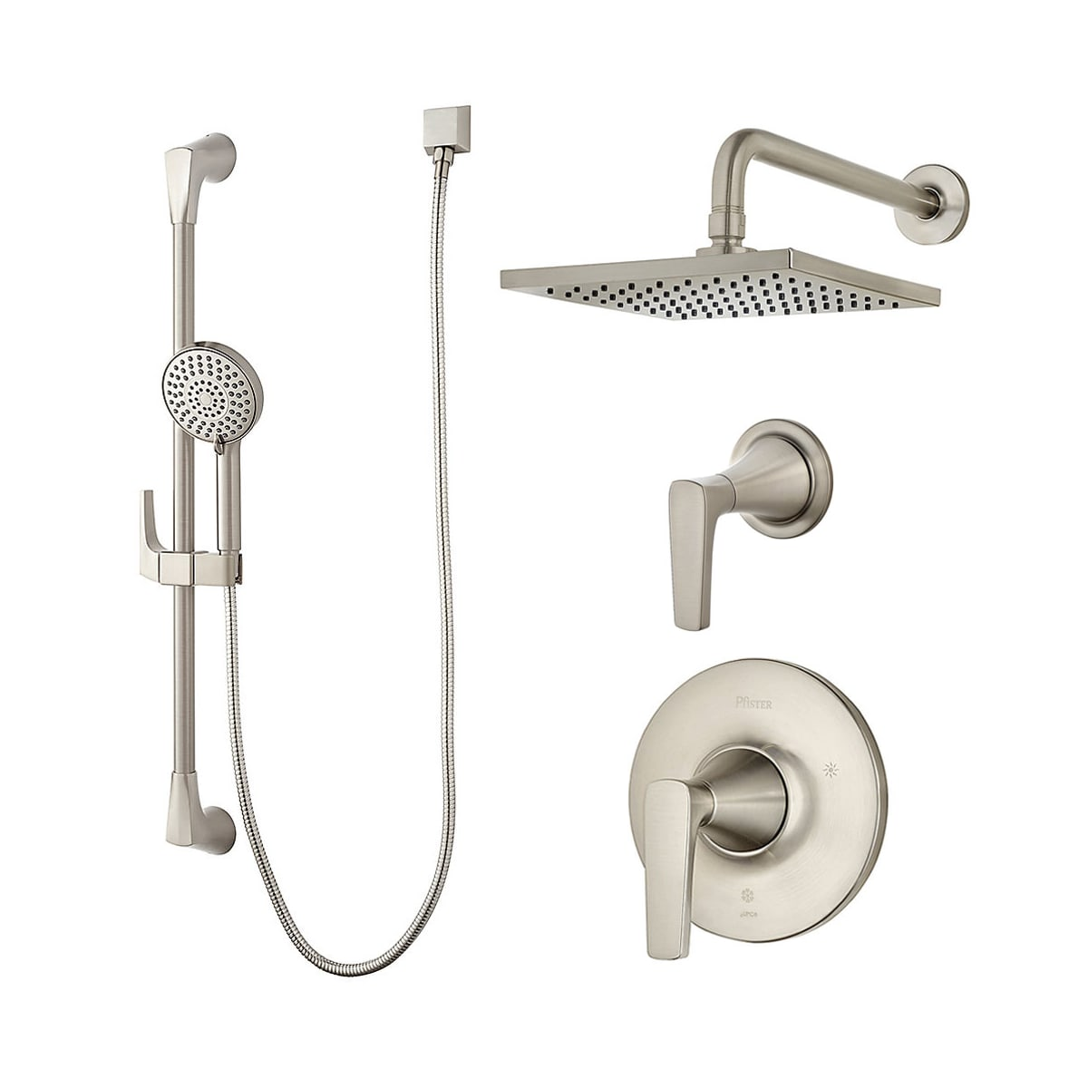 Pfister B89 7mfk Brushed Nickel Kelen Shower System With