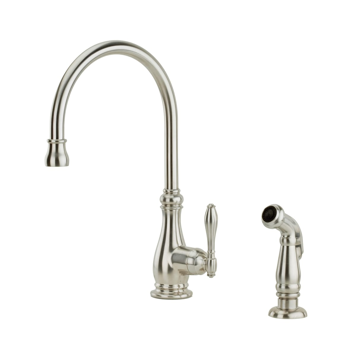 Pfister F 029 4hys Stainless Steel Alina Kitchen Faucet With Sidespray Faucet Com