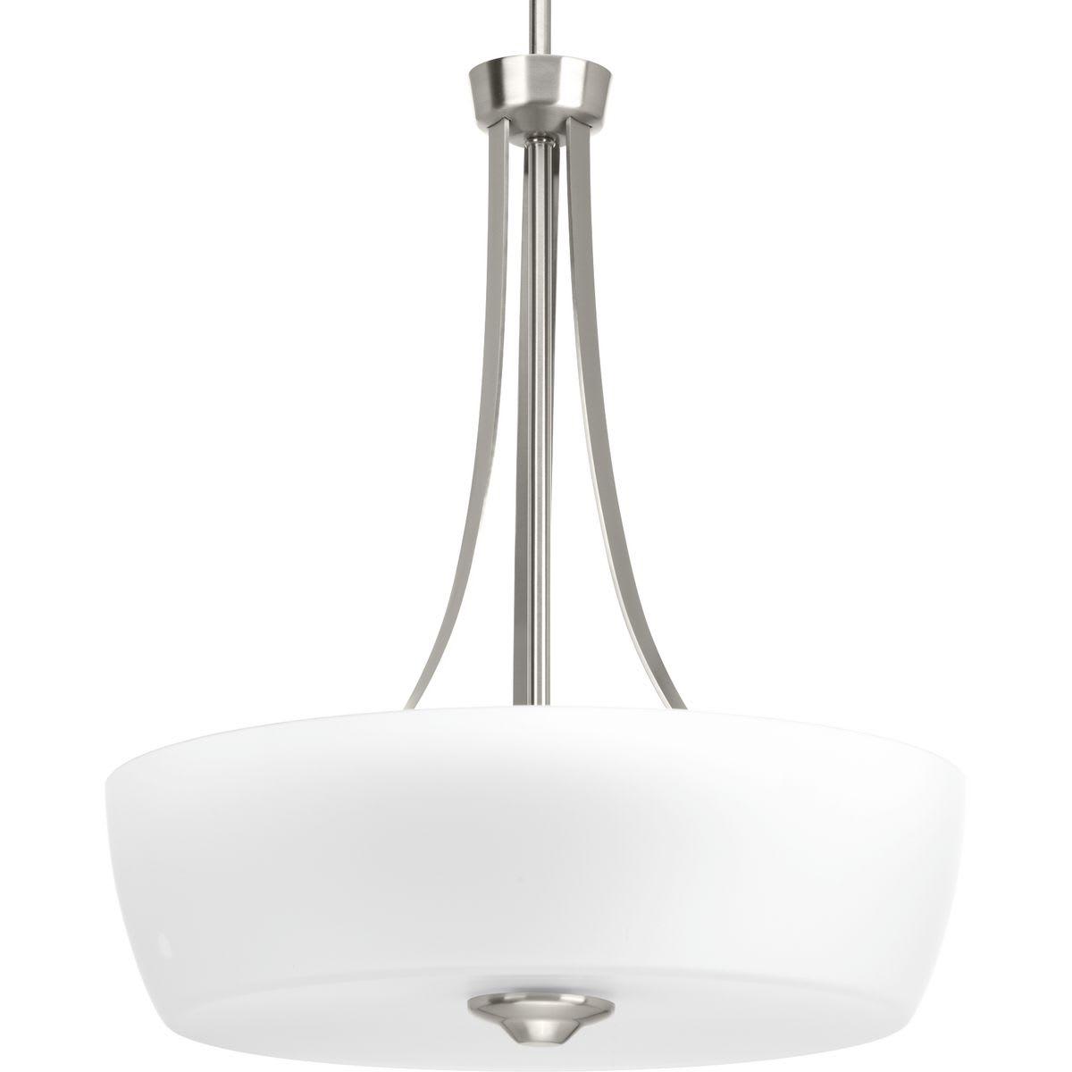 Progress Lighting Leap Collection 3-Light Brushed Nickel Bath Light P300133-009