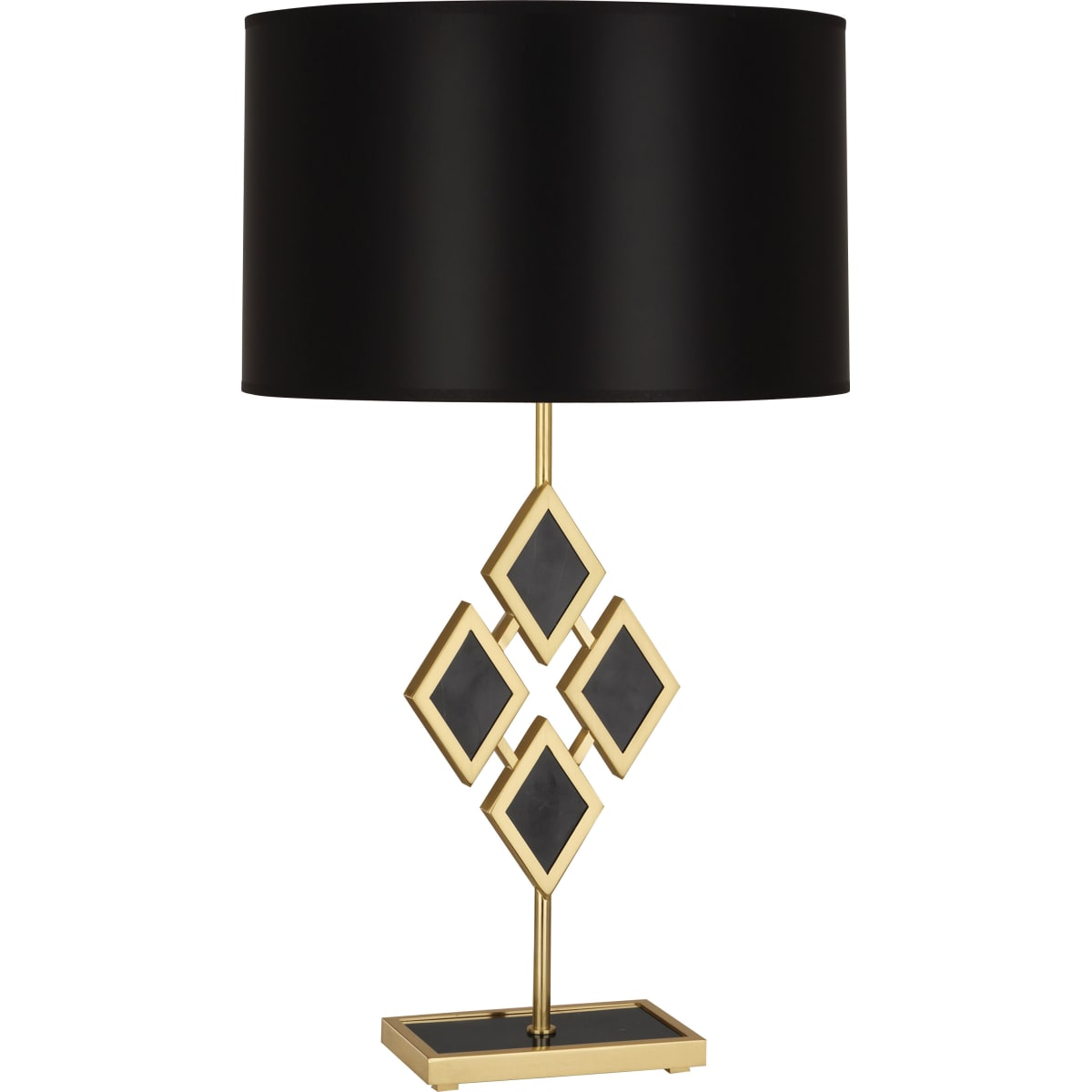Robert Abbey 420b Modern Brass Edward 29 Novelty Table Lamp With Black Marble Accents And An Opaque Parchment Shade Lightingshowplace Com