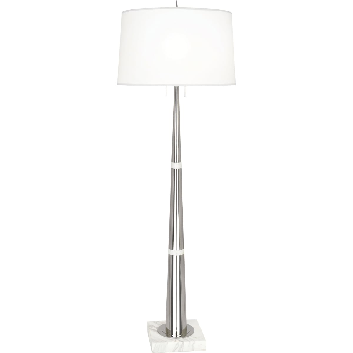 Picture of: Robert Abbey 163 Warm Brass Florence 63 Column Floor Lamp With White Marble Base Lightingshowplace Com