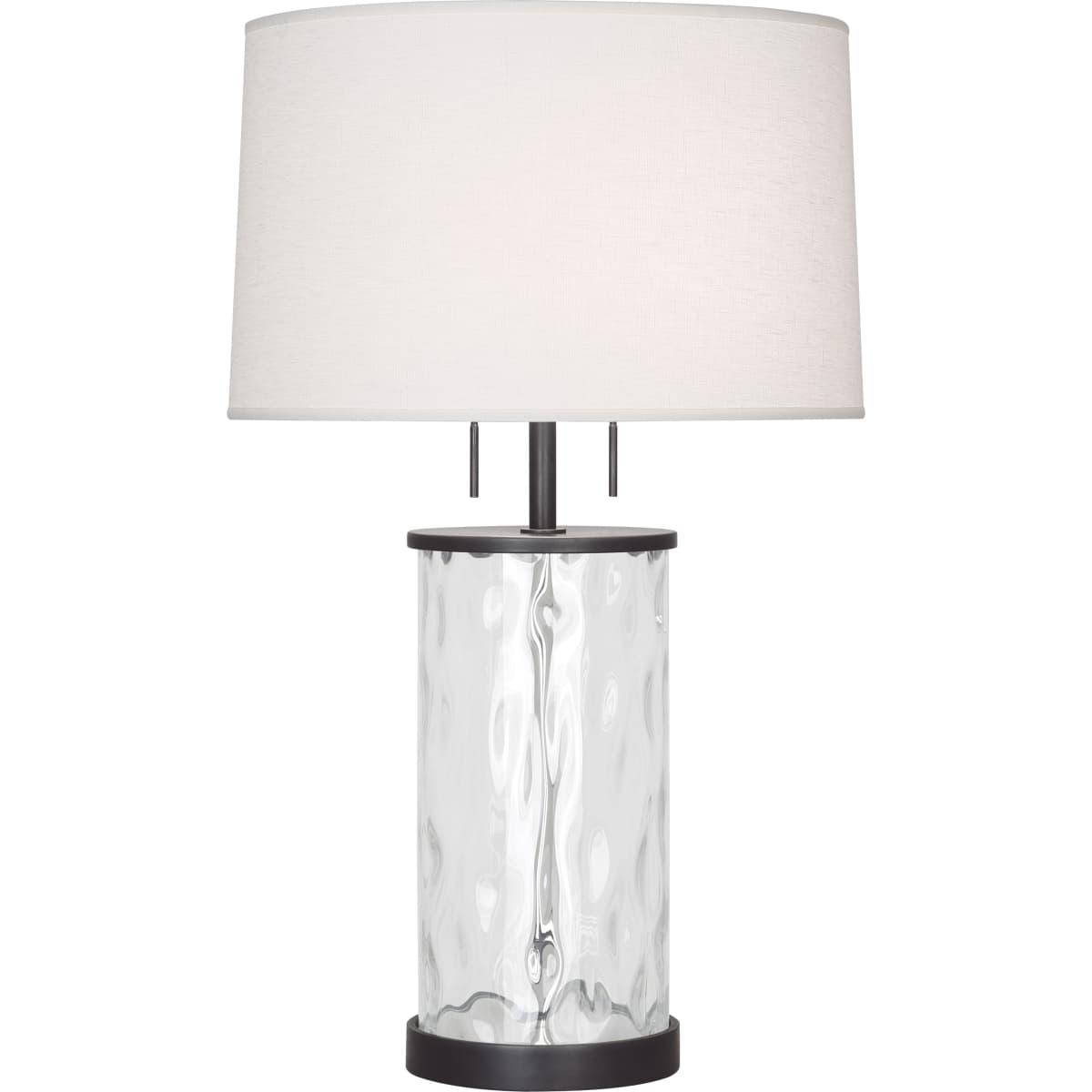 Robert Abbey Z1440 Deep Patina Bronze Gloria 28 Table Lamp With Linen Shade Lightingshowplace Com