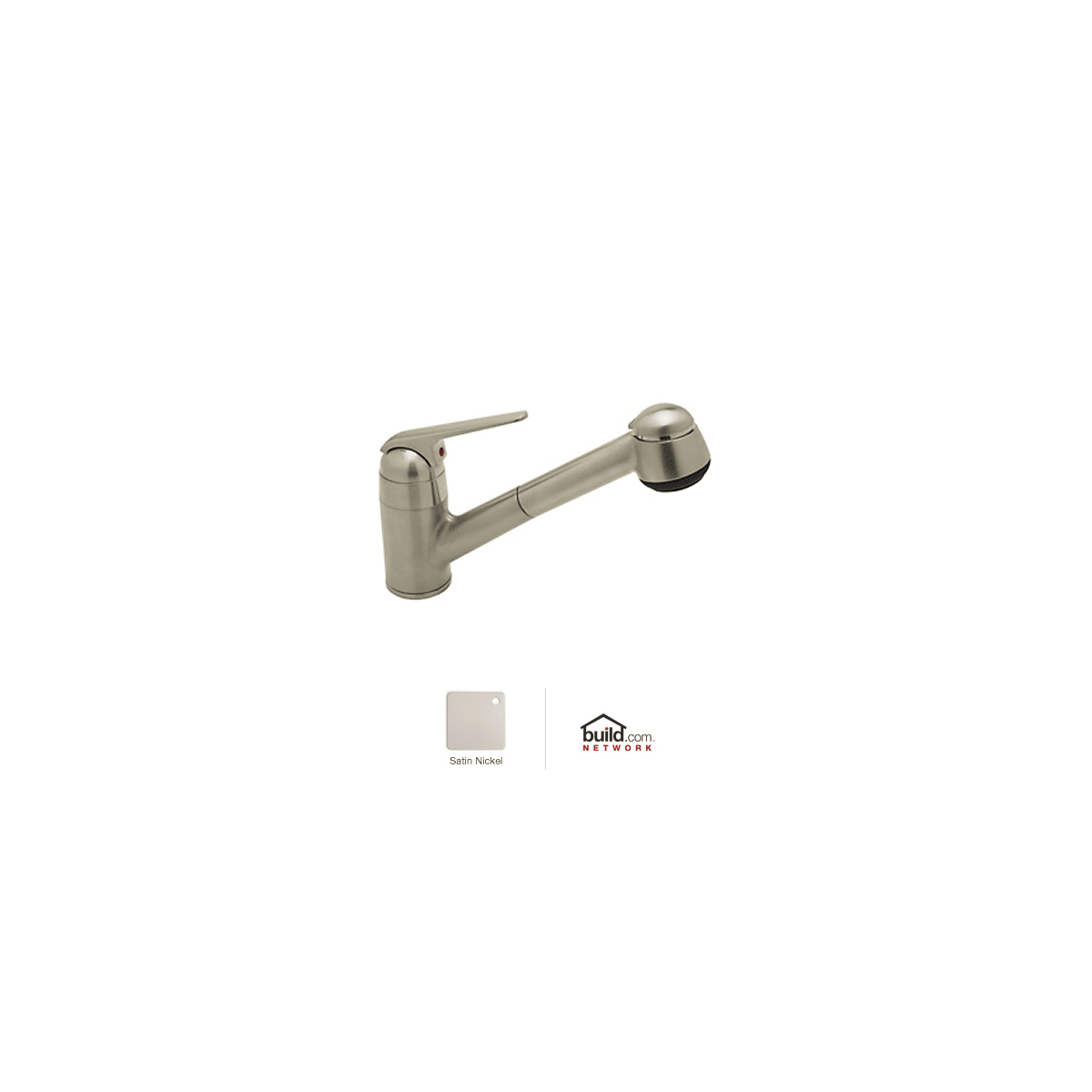 Rohl R3810STN Satin Nickel De Lux Kitchen Faucet with Pull ...