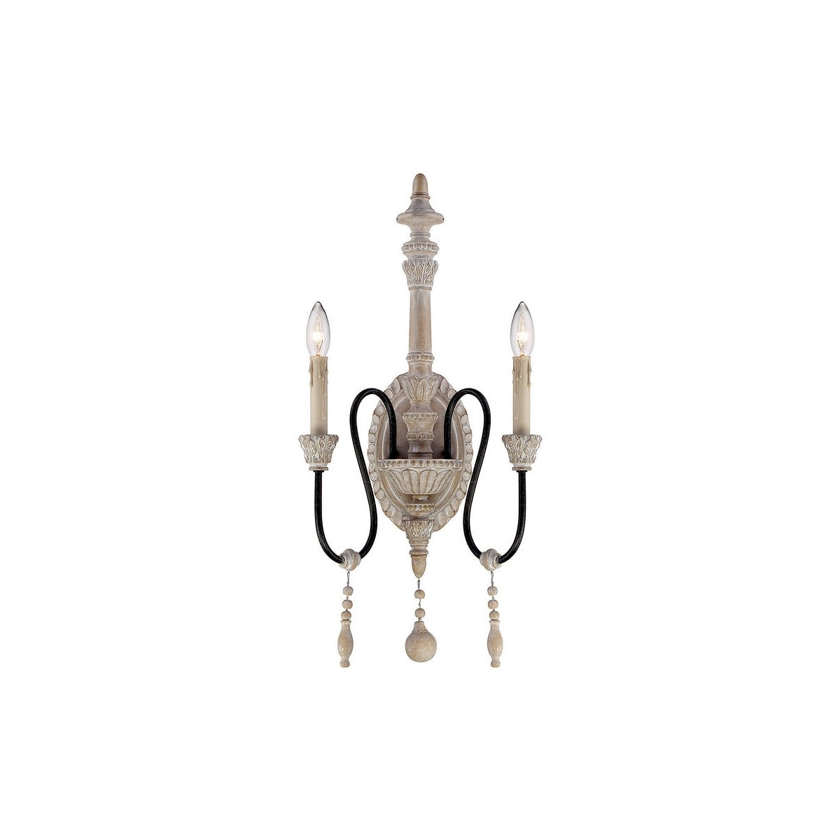 Savoy House Ashland 2-light French Country wall sconce - a gorgeous chic lighting option for your French farmhouse style space!