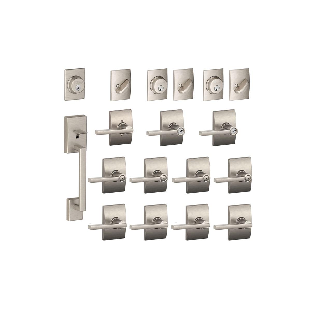 Schlage F600CEN619LAT. Century Complete House Door Hardware ...