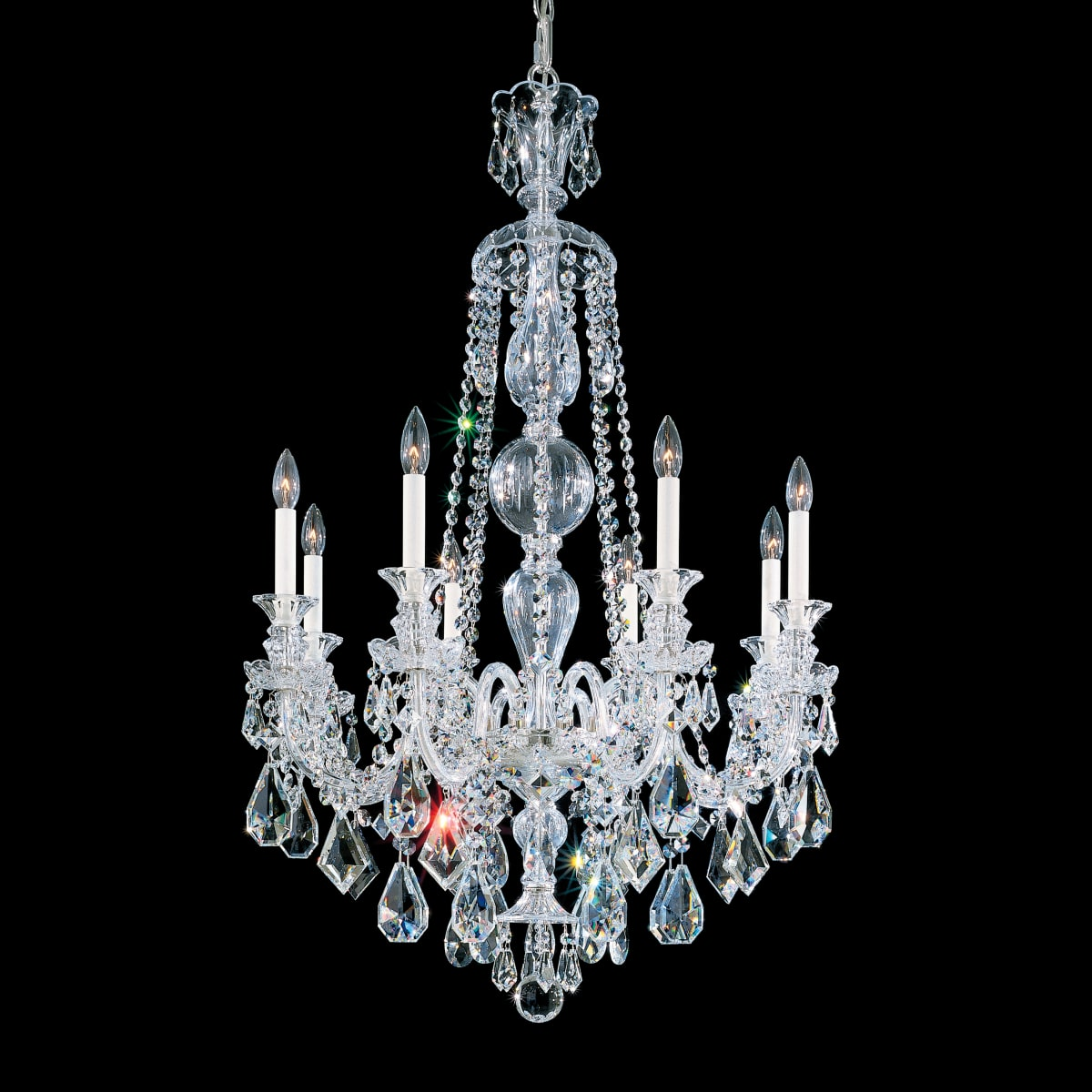 Schonbek 5707bk Jet Black Hamilton 8 Light 29 Wide Crystal Chandelier With Black Swarovski Heritage Crystals Lightingshowplace Com