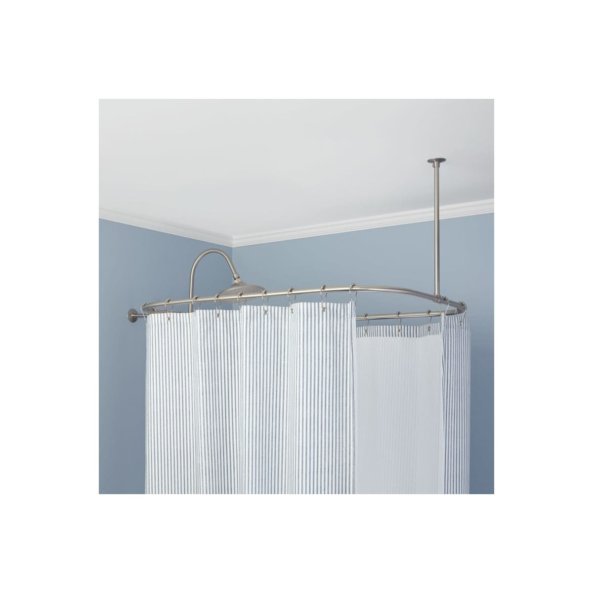 Signature Hardware 345605 54 X 32 Rectangular Solid Br Ceiling And Wall Mounted Shower Curtain Rod