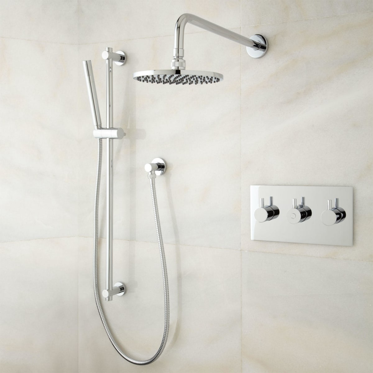 Signature Hardware 379999 Brushed Nickel Tosca Thermostatic Shower ...