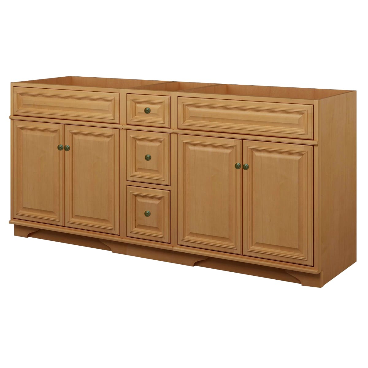 . Sunny Wood BW7221D Briarwood Briarwood 72  Maple Wood Vanity Cabinet