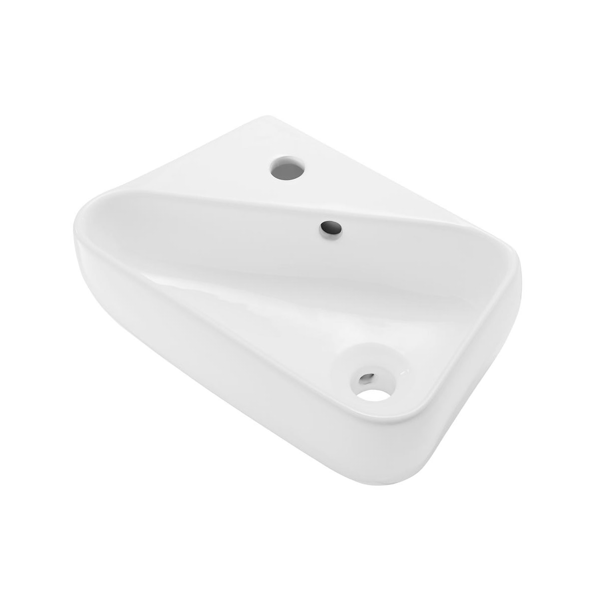 Swiss Madison Sm Ws314 Glossy White Plaisir 18 Rectangular Ceramic Wall Mounted Bathroom Sink With Overflow And 1 Faucet Hole Faucetdirect Com