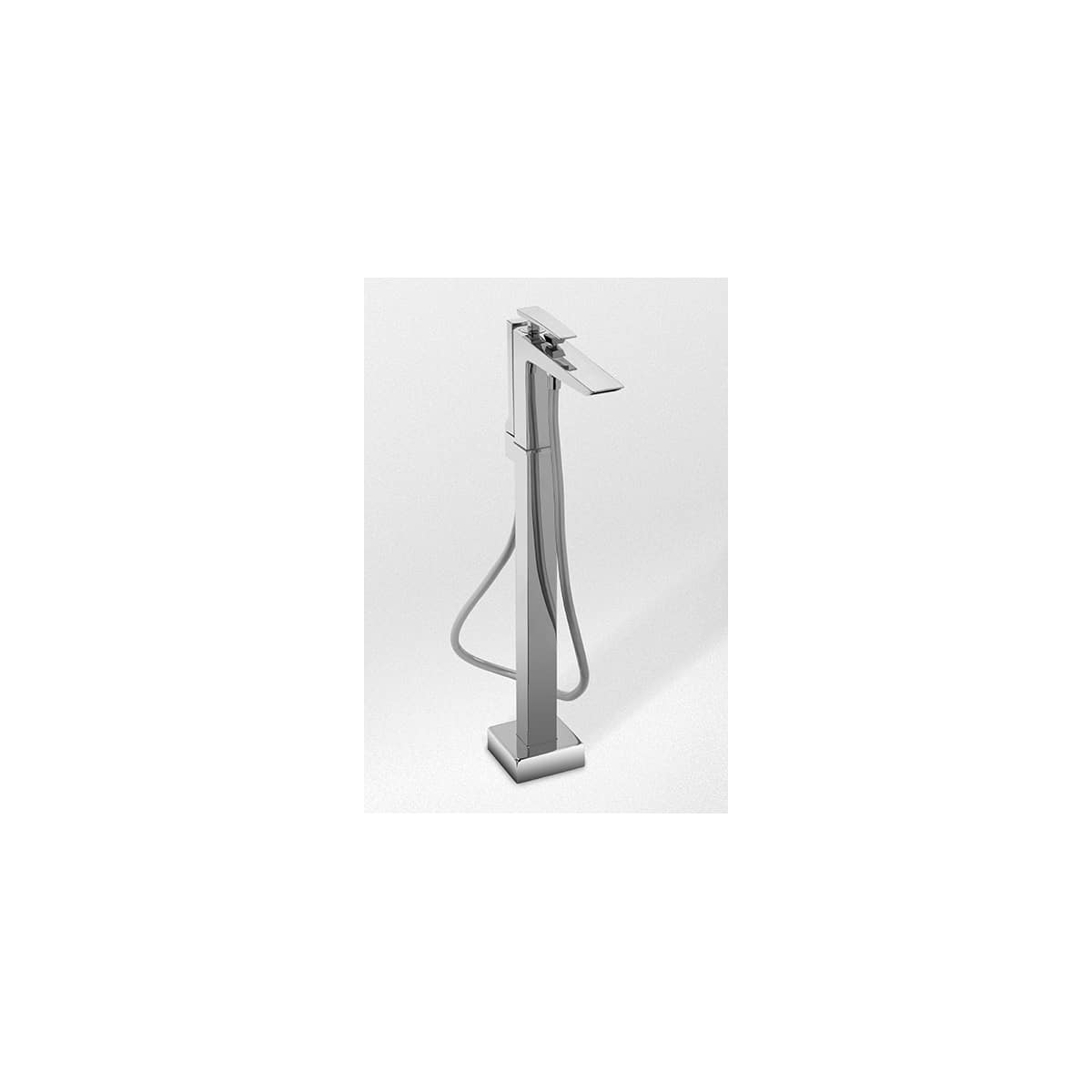 Toto Tb100sfcp Polished Chrome Single Handle Ada Compliant Active Exposed Bath And Shower Faucet Freestanding Tub Filler With 60 Inch Metal Hose