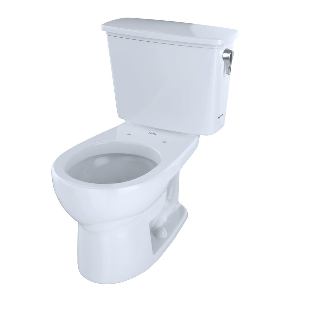Toto CST743ERN#01 Cotton Eco Drake 1.28 GPF Two Piece Round Toilet ...