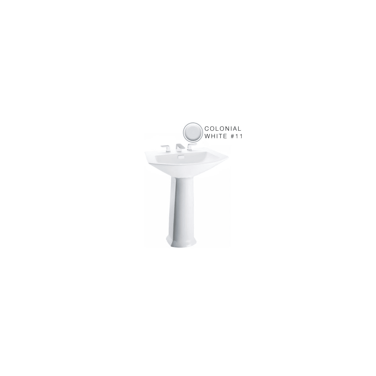 Toto PT960#11 Colonial White Lavatory Pedestal Only for Toto Soiree ...
