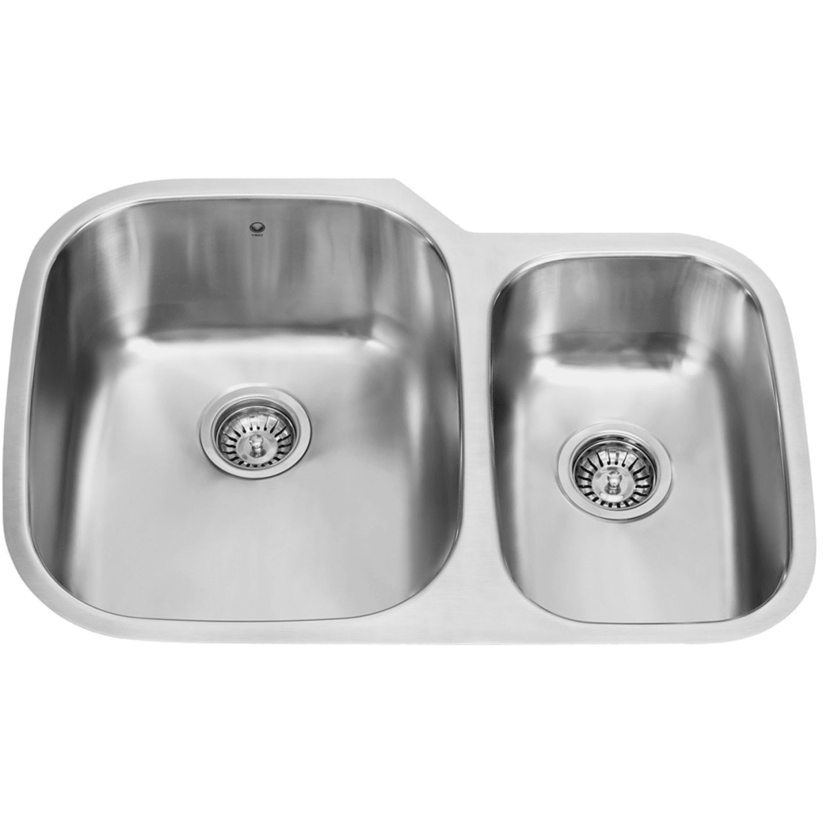 Vigo Vg3021l Stainless Steel 29 1 2 Double Basin Undermount Kitchen Sink With Cutting Board Faucet Com