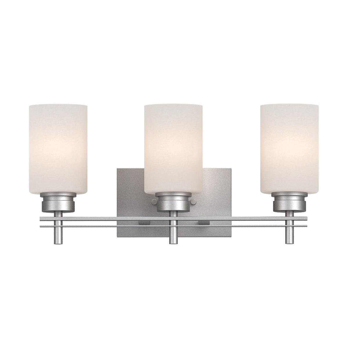 Volume Lighting 3753 62 Nickel Carena 3 Light 20 Wide Bathroom Vanity Light Lightingdirect Com