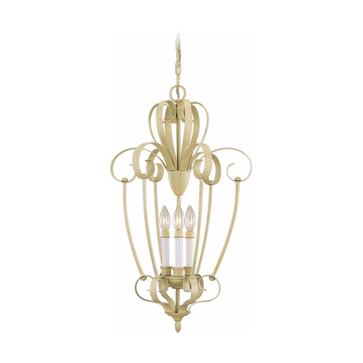 Volume Lighting 3333-71 Golden Coral Florentia 3 Light 1 Tier