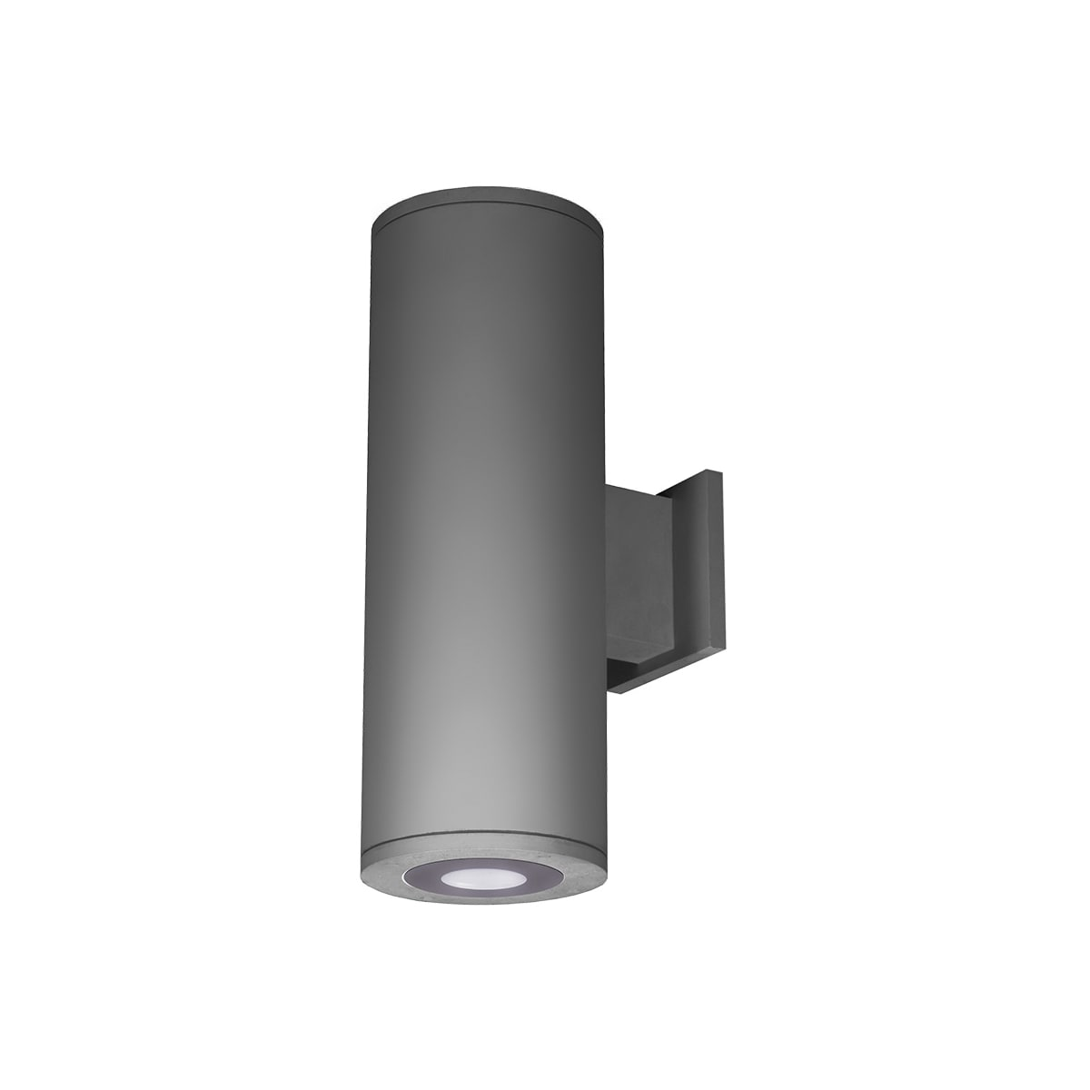 Wac Lighting Ds Wd05 U30b Gh Graphite 3000k Tube Architectural 13 Tall Led Double Sided Outdoor Wall Sconce With Ultra Narrow Beam And Towards The Wall Light Direction Lightingshowplace Com